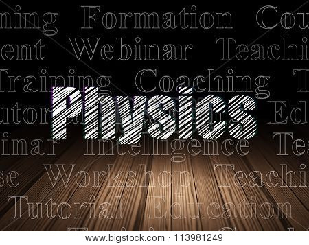 Learning concept: Physics in grunge dark room
