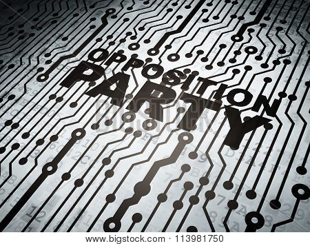 Political concept: circuit board with Opposition Party