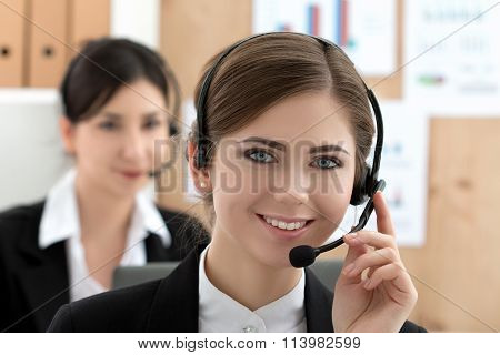 Portrait Of Call Center Worker
