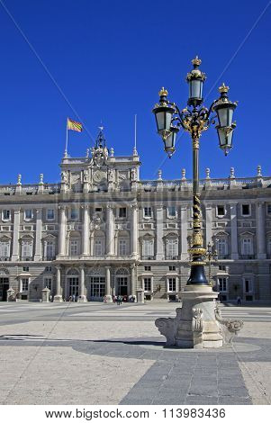 Madrid, Spain - August 23, 2012: Palacio Real - Royal Palace In Madrid, Spain