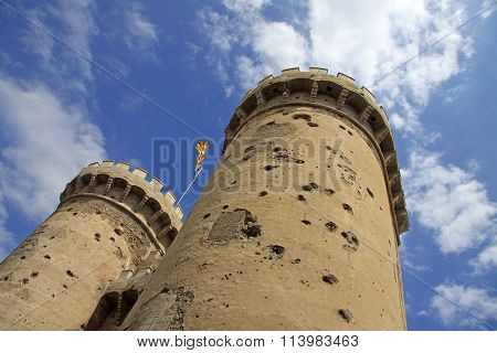 Valencia, Spain - August 26, 2012: Torres De Quart, A Part Of Old Christian City Wall