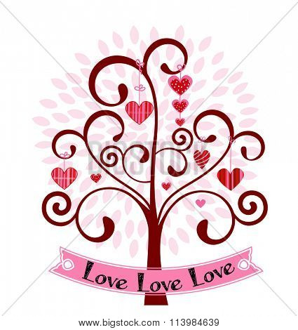 Heart tree with banner