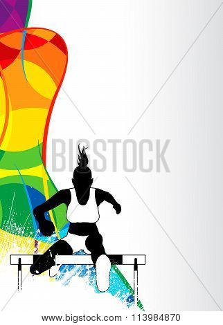 Hurdles Running Sport Background