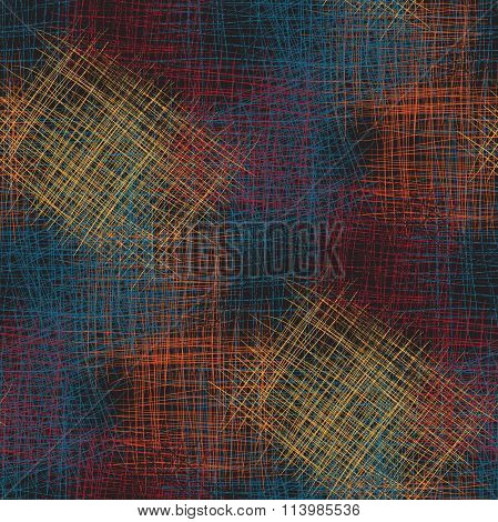 Seamless vector abstract colorful sketch looking pattern