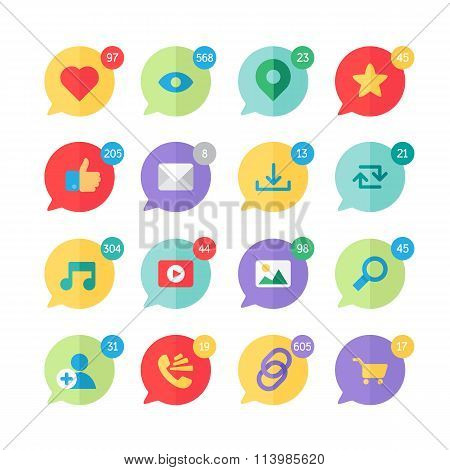 Web Virtual Socail Network Icons