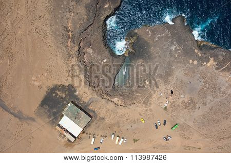 Aerial View Of Buracona  In Sal Island Cape Verde - Cabo Verde