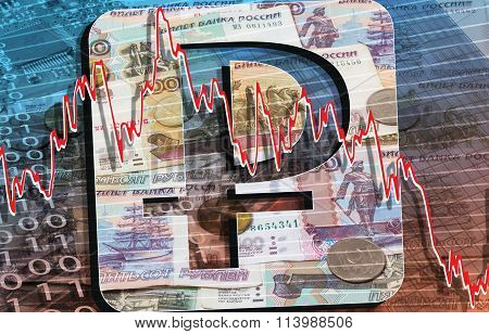 Russian Banknotes And Coins. Currency And Finance