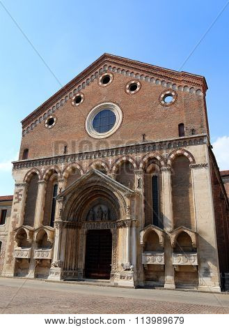 Ancient Saint Lawrence Church In The Historic City Of Vicenza