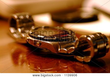 Wrist Watch On Table