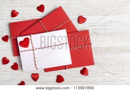 Valentines Day Envelope Mail, Red Heart, Valentine's Letter, Wedding Love