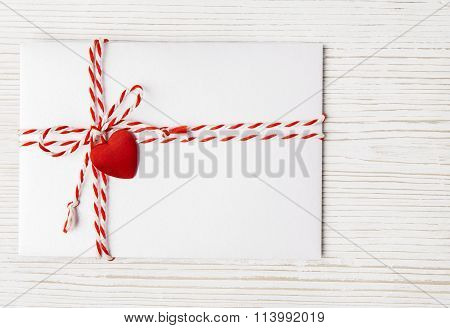 Valentines Day Envelope Mail, Heart Tied Rope, Valentine s Love Letter