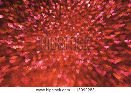 Valentines Day Background, Valentine S Red Hearts De Focused Lights, Wedding Love