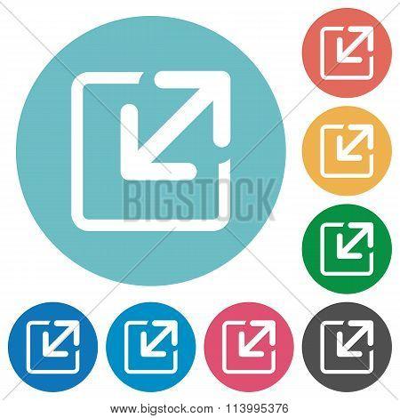 Flat Resize Icons