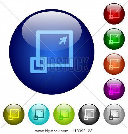Color Maximize Glass Buttons