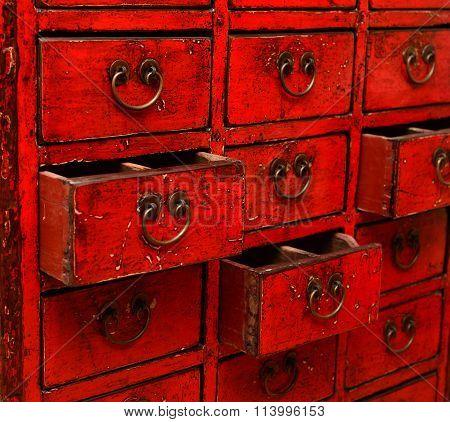 Herbal Medicine Drawer Cabinet
