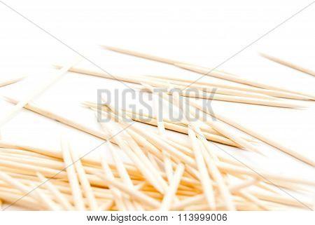 Toothpicks On White