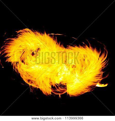 Orange Flames Fire Show
