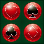 Постер, плакат: Poker casino button