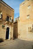 picture of olden days  - Old street and picturesque houses of Mdina - JPG