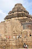 Indian Tourists Explore Konarak Temple poster