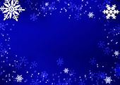 pic of weihnacht  - christmas background blue with snowflakes 