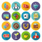 Постер, плакат: poker vector icons