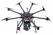 octocopter drone with digital camera poster
