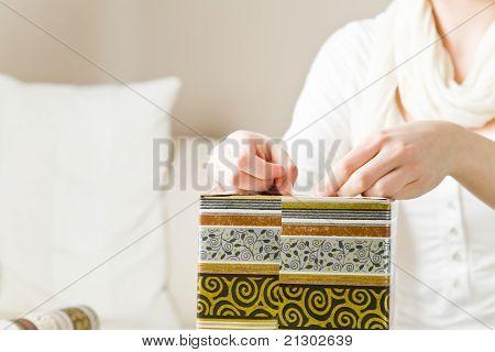 Closing A Gift Box