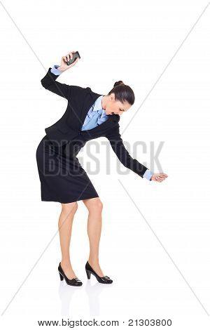 Businesswoman Smashing Her Phone