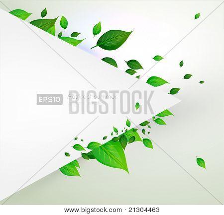 bio concept design eco friendly. for summer fresh floral design