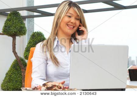 Businesswoman Talking