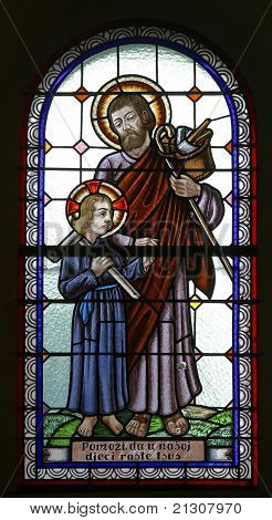 Saint Joseph with child Jesus