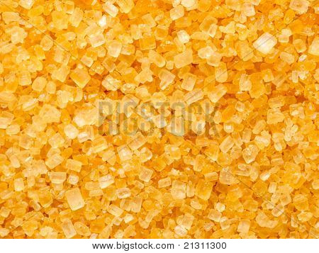 golden sugar crystals