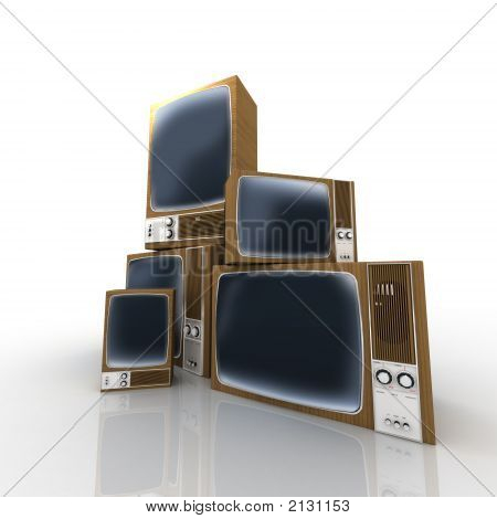 Heap Of Vintage Televisions