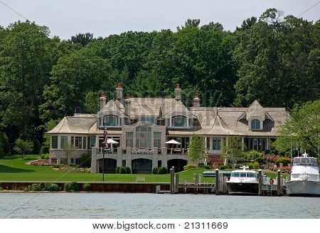estate on the lake