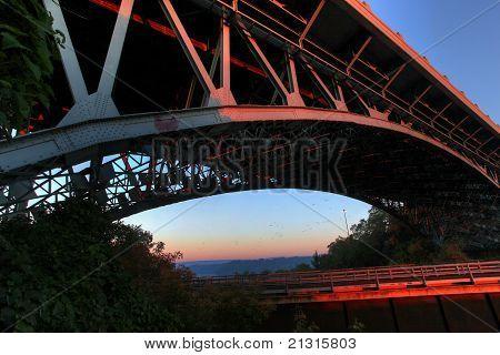 Dramatic Angle Of A Bridge