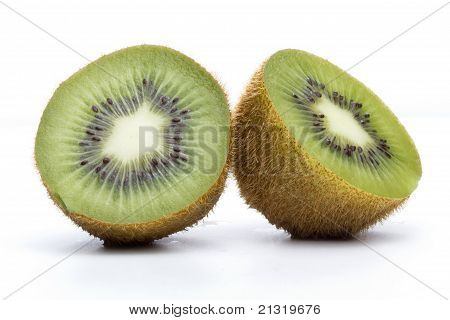 Kiwi Fruit Sliced Into Halves