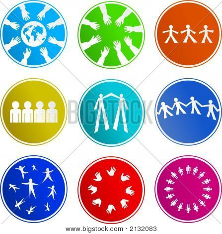 Teamwork Sign Icons