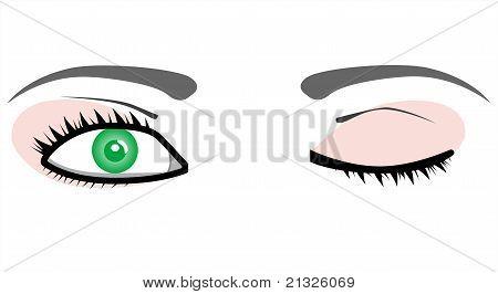 Mulher de beleza de vector de olhos