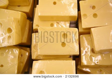 Packed Pieces Of Cheese