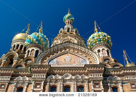 Temple Spas-na-krovi. Russia. St.petersburg.