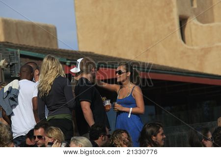 MALIBU, CA - AUG 26: Lauren Mayhew at a party at the LG House on the beach in Malibu, California on August 26, 2007