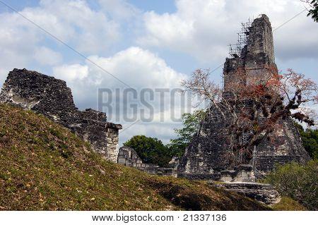 Ruins And Pyramid