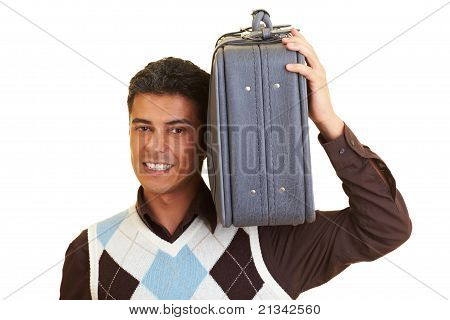 Carrying A Suitcase