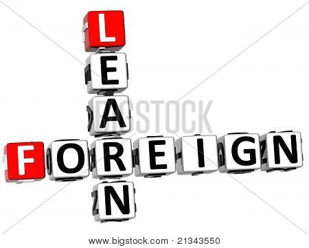 3D Foreign Learn Crossword