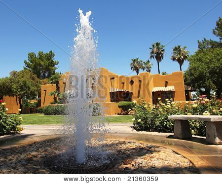 A Fountain at a Health Resort