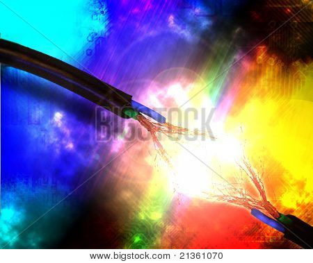 Abstract electric background