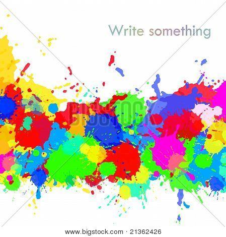 Bright Splashs With Copyspace