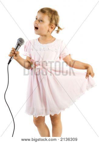 Little Girl Singing.