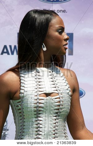 LOS ANGELES - JUNE 26:  Tika Sumpter arriving at the 11th Annual BET Awards at Shrine Auditorium on June 26, 2011 in Los Angeles, CA
